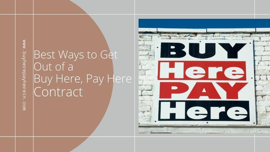 How to get out of a Buy Here Pay Here Contract